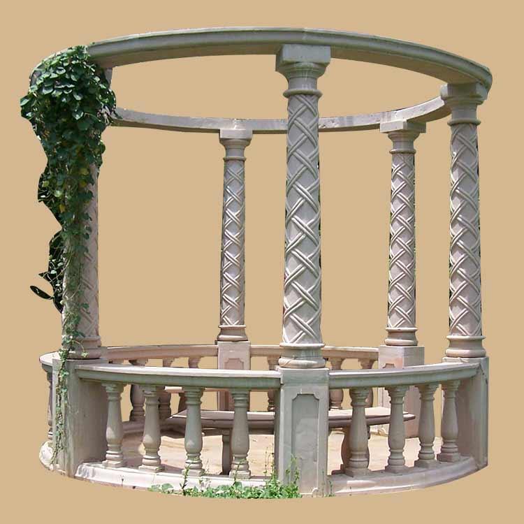 Round modern style marble  garden Pergola