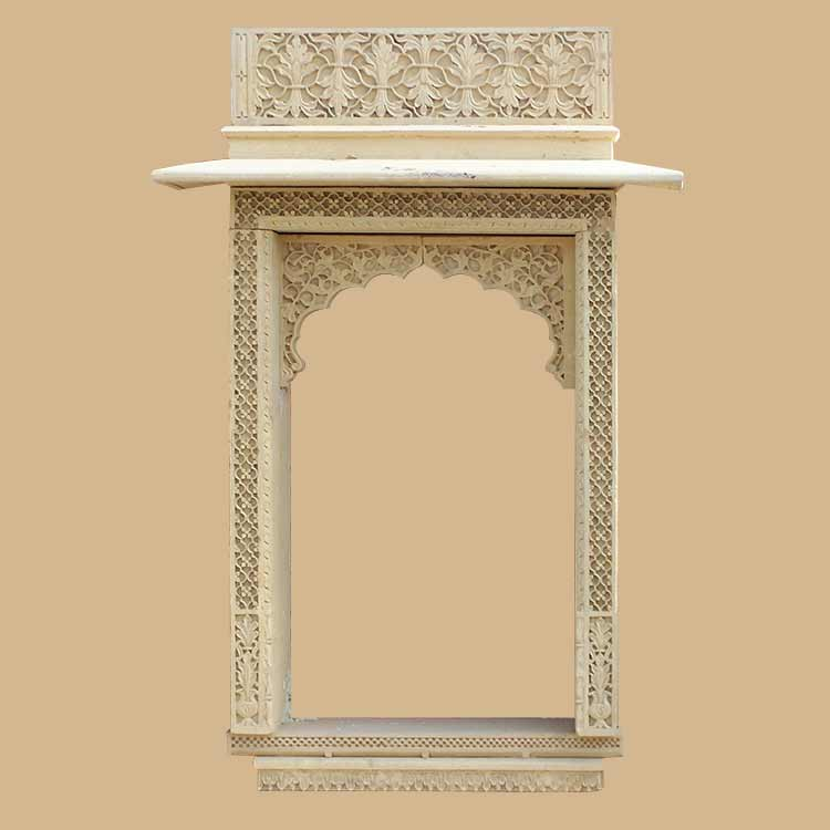 Gate & Arch indian traditional Yellow teak stone