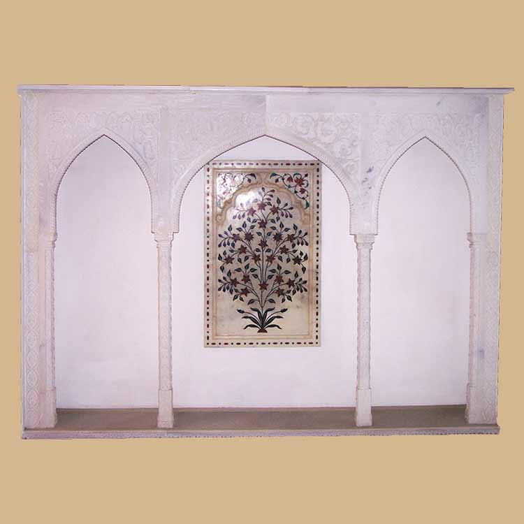 Exquisite antique Gate & Arch Marble With inlay