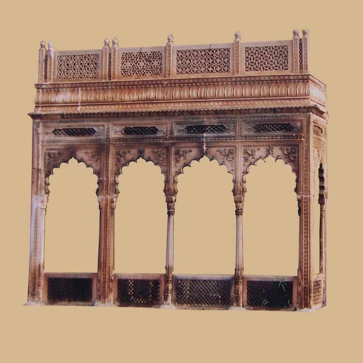 Antique carved Jharokha sandstone