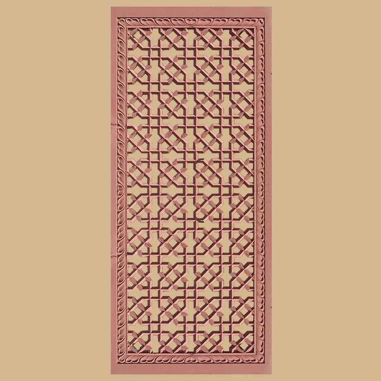 Geometric design  Screen And Jali red stone