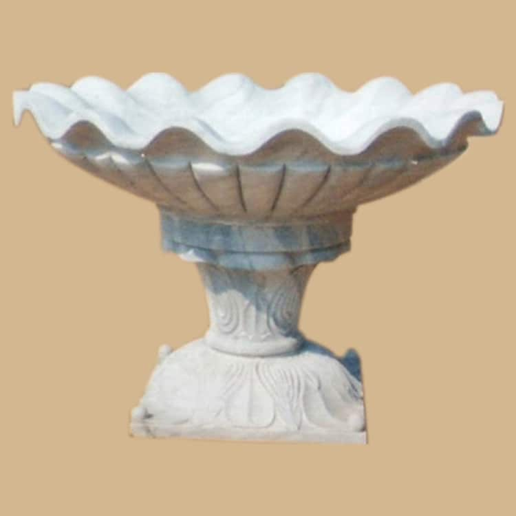 Antique Finish Marble Bird Bath