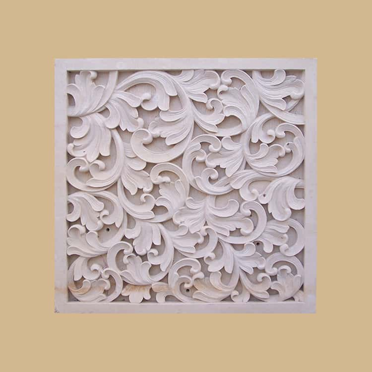 Bali Stone Abstract Carved Panel