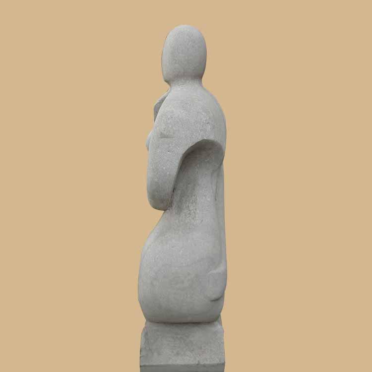 Stone Couple Modern Art Sculpture