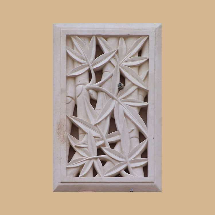 Bali Stone Bamboo Carved Panel