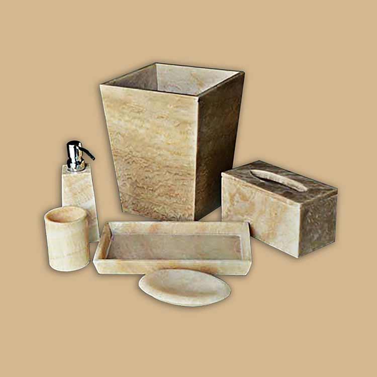 Onyx Marble Bathroom Accessories Set
