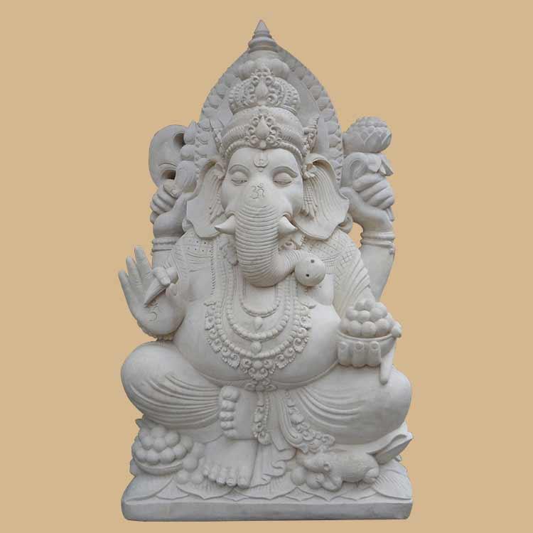 Bali Stone Carved Sitting Ganesha