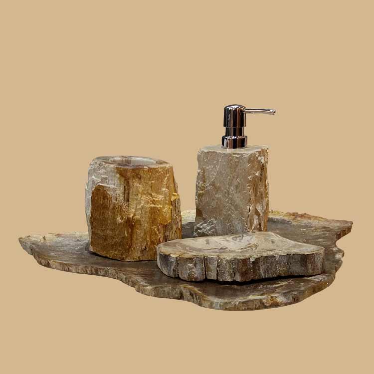 Petrified Wood Bathroom Accessories set