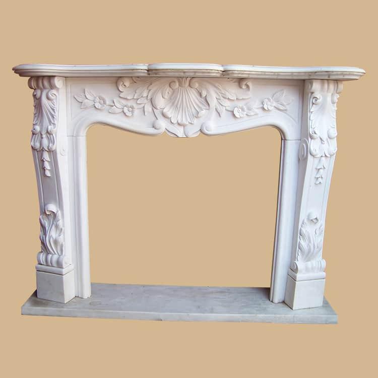 Greek Design Carving Marble Fireplace Mantel
