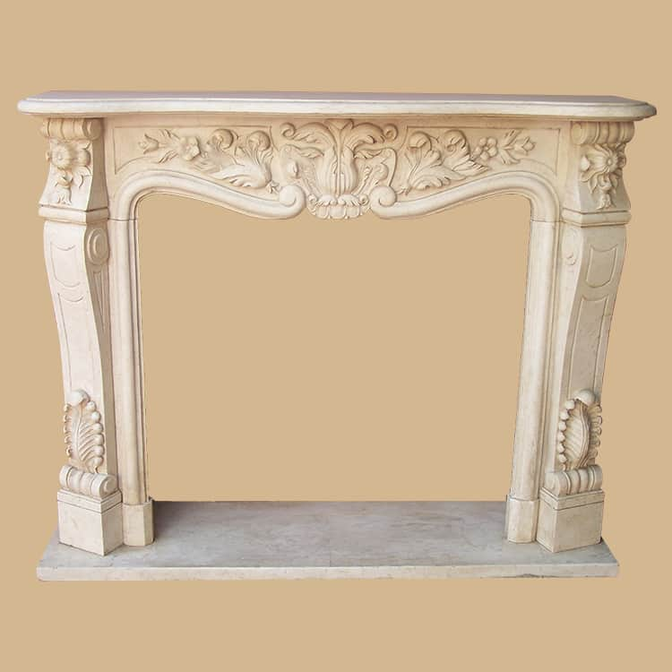 French Style Carved Marble Firepace