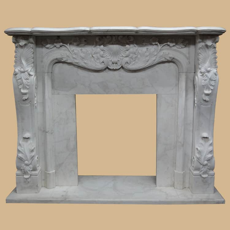 Georgian English Rococo Antique Fireplace Surround