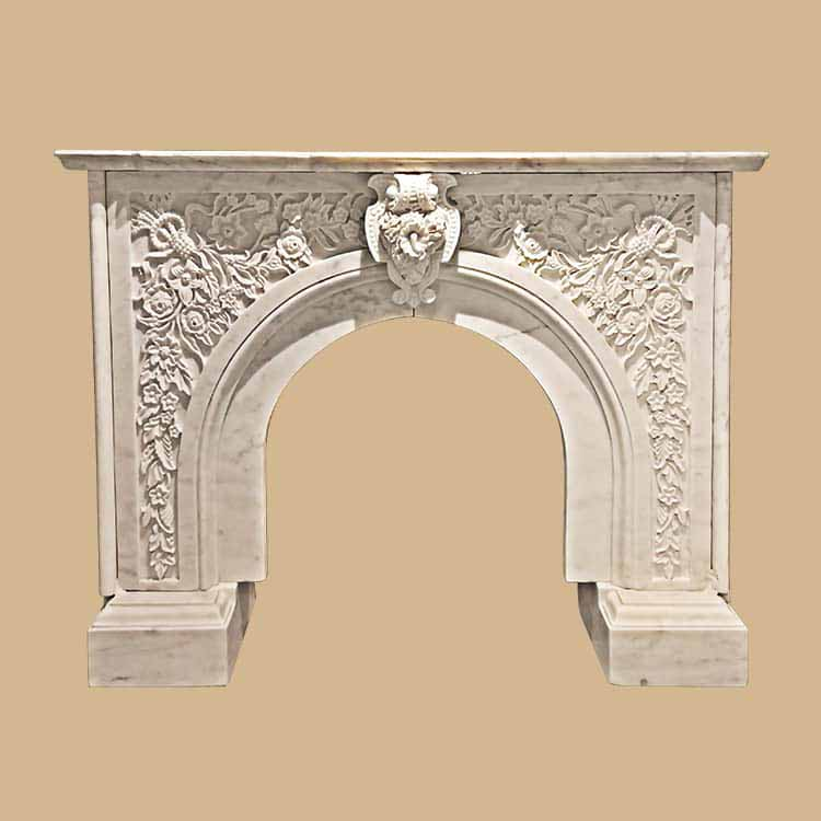 Antique Italianate Marble Fireplace