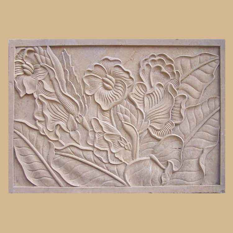 Asian Craved Stone Wall Panel