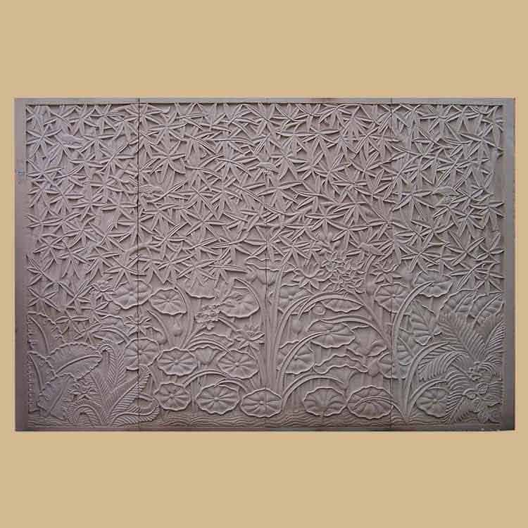 Bamboo Stone Carved Wall Mural