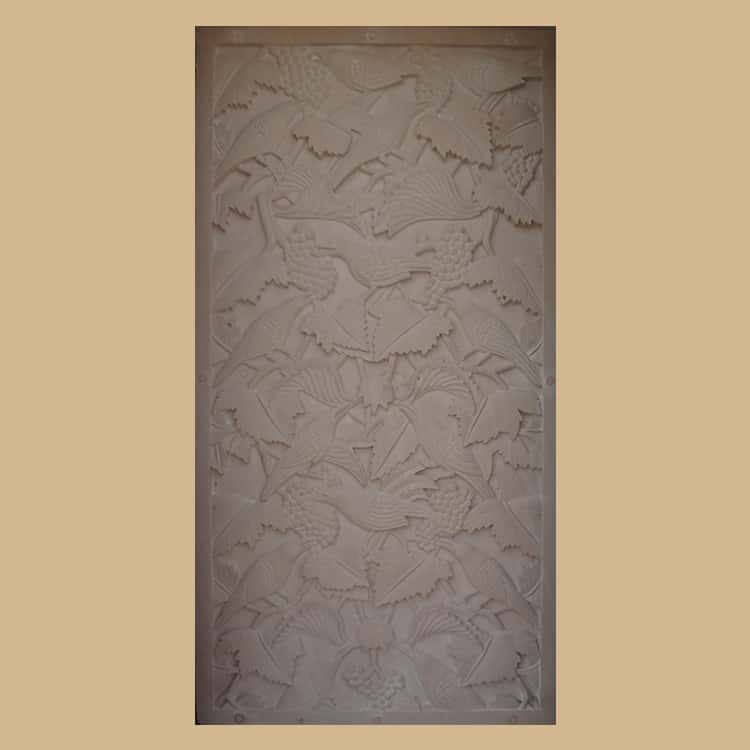 Parrot with Bunches of Grapes Wall Panel
