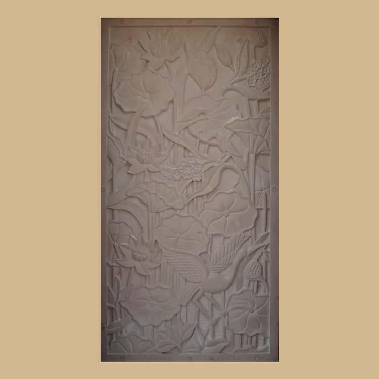 Dholpur Sandstone Lotus  Wall Panel
